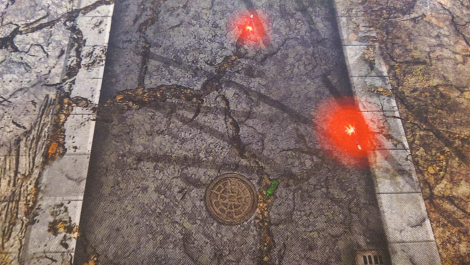 Tyre tracks, flares and bottles are just a few great details you'll find on the Urban Combat mat.